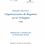 Organizaciones de Regantes en la VI Región